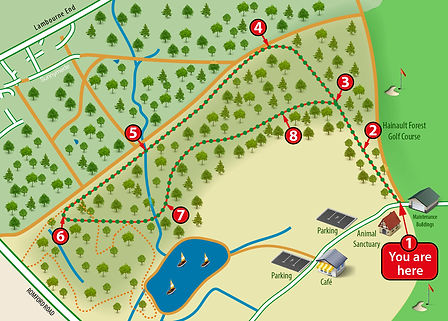 Hainault Forest audio trail map
