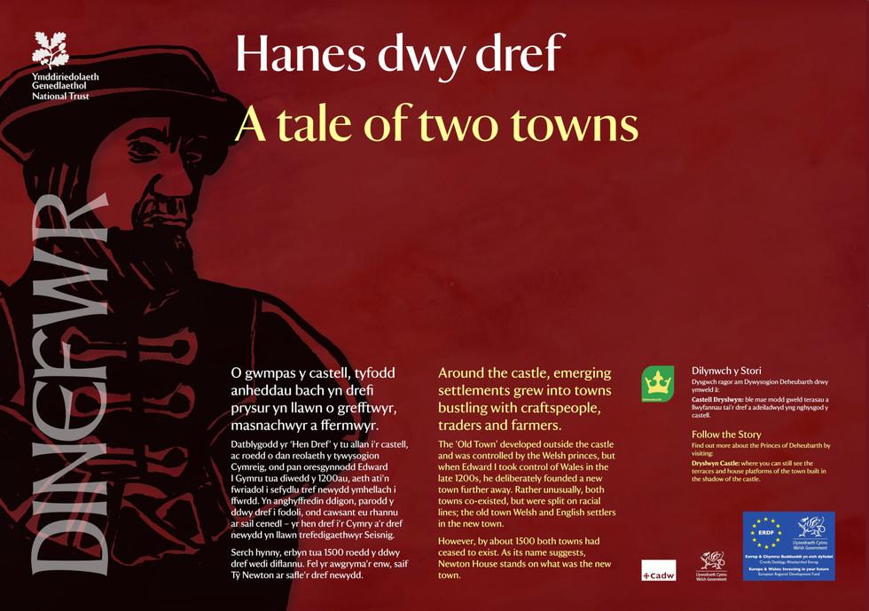 Interpretation Panel: Dinefwr Park - Ancient Dinefwr