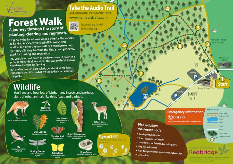 Hainault Forest Country Park - Forest Walk Interpretation Panel