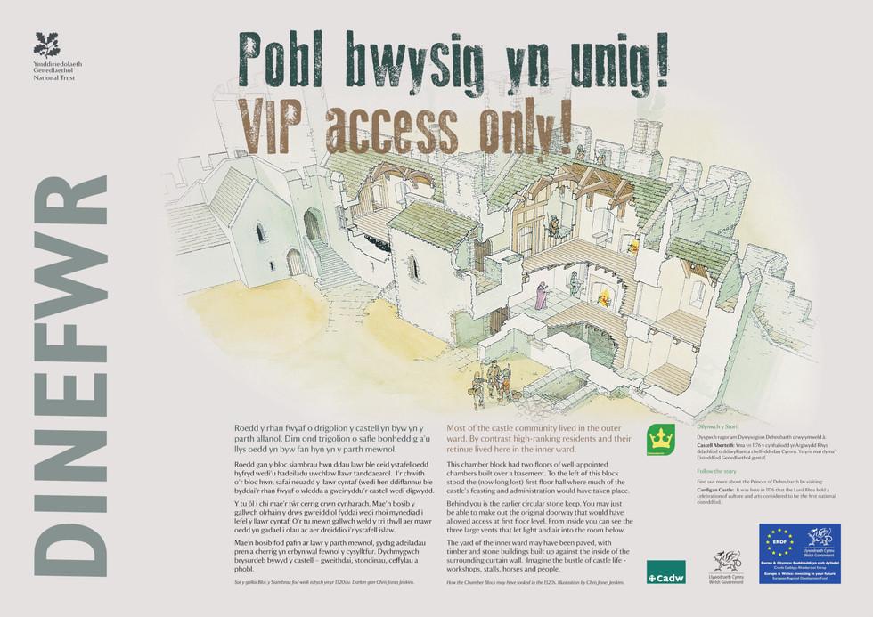 Interpretation Panel: Dinefwr Castle - Castle Living