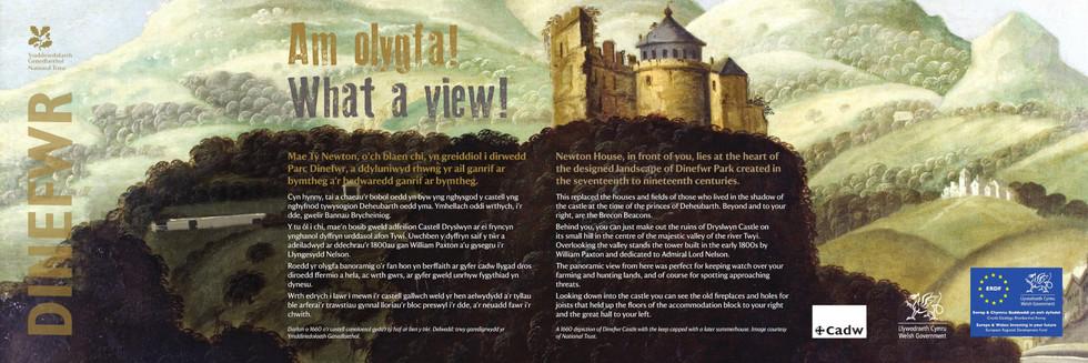 Interpretation Panel: Dinefwr Castle - Castle View