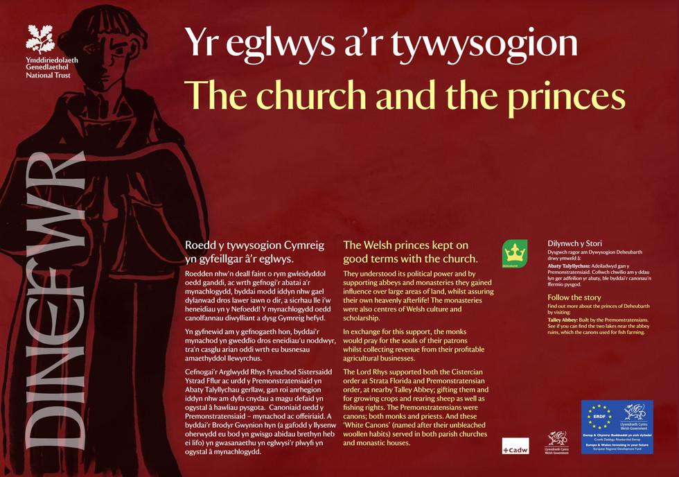 Interpretation Panel: Dinefwr Park - The Church