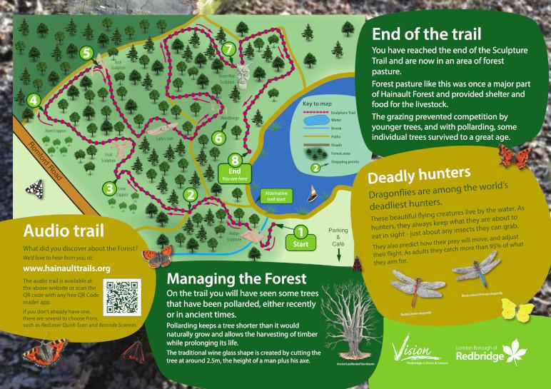 Hainault Forest Country Park - SculptureTrail Interpretation Panel