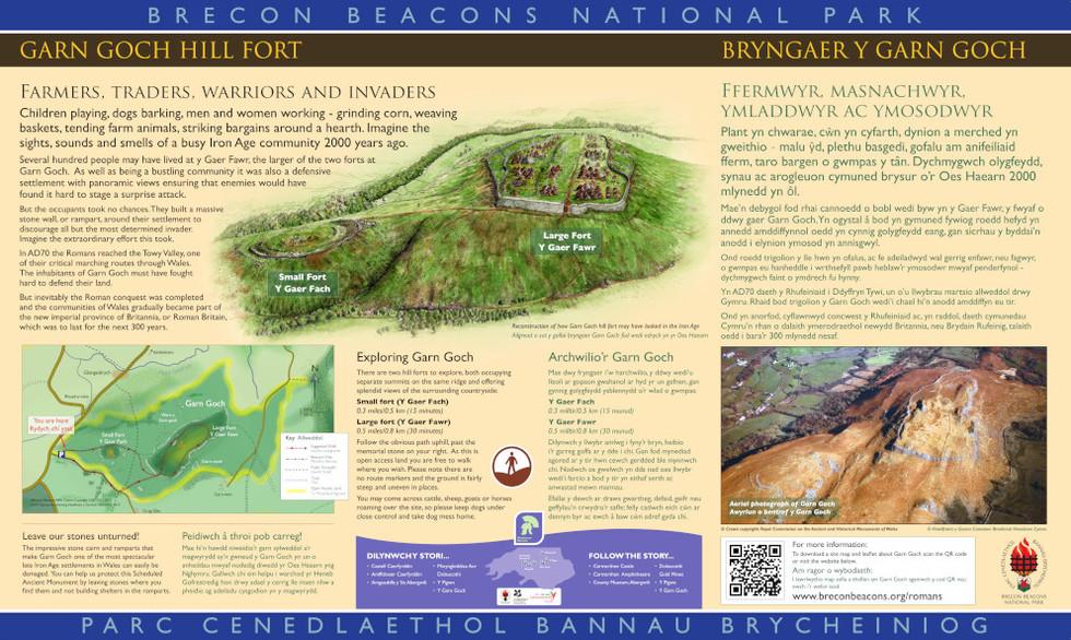 Garn Goch Hill Fort Interpretation Panel