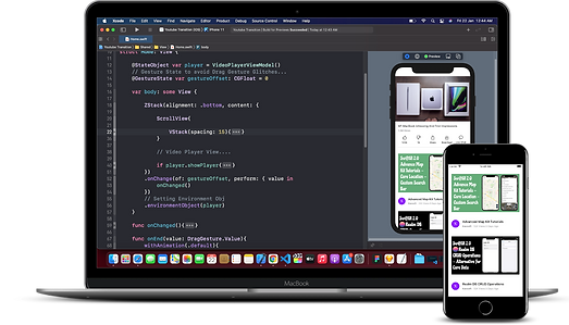 Xcode, the software IDE used by Monty Funk for iOS app development