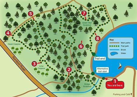Hainault Forest Sculpture audio trail map