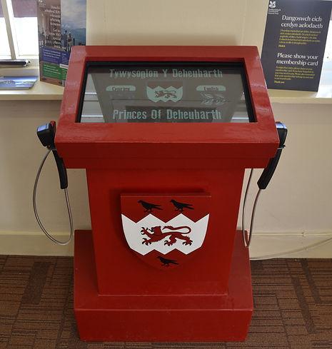 Heritage interpretation kiosk by Monty Funk for the National Trust