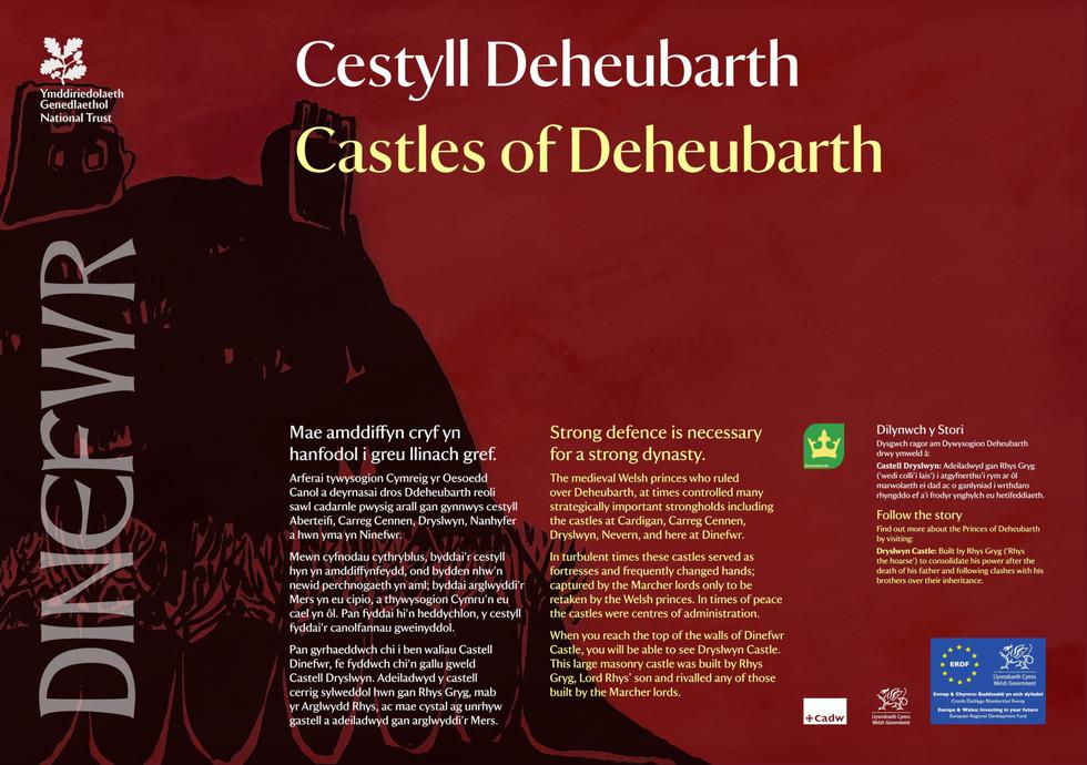 Interpretation Panel: Dinefwr Park - Castles
