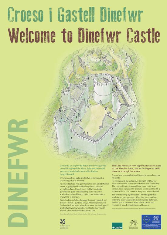 Interpretation Panel: Dinefwr Castle - The Castle