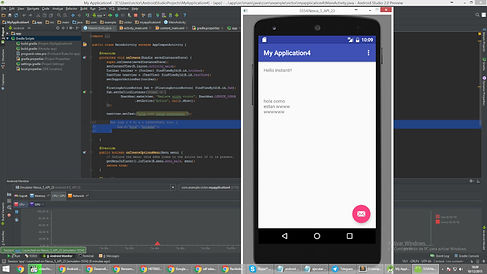 Android Studio, the IDE used by Monty Funk for Android app development