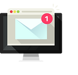 New-email-on-computer-vector-illustratio