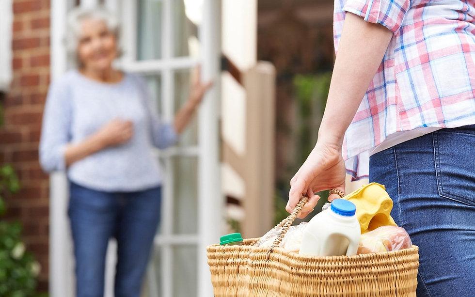 A neighbour helping a neighbour