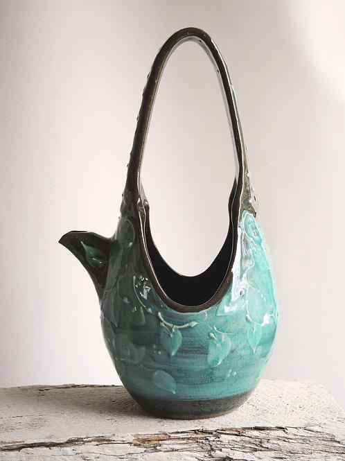 Turquoise Tall Waterbasket