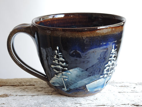 Night Pines Soup Mug