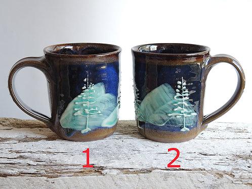 Night Pines Diner Mugs