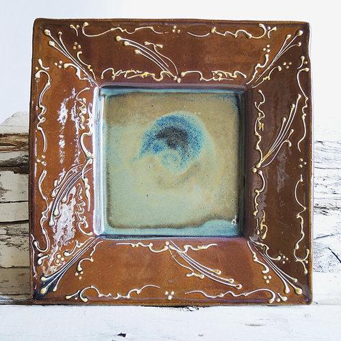 Amber Square Platter