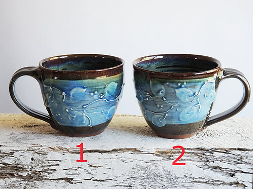 Blue Leaves Cafe Mugs