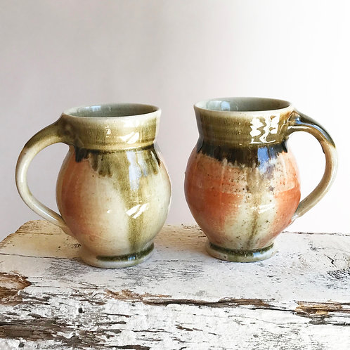 Woodfired Barrel Mug pair