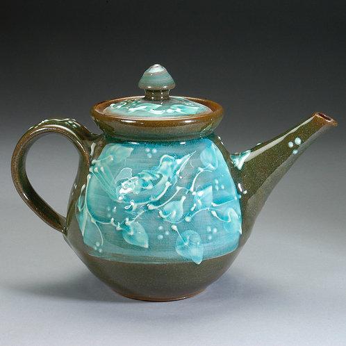 Turquoise Bird Teapot