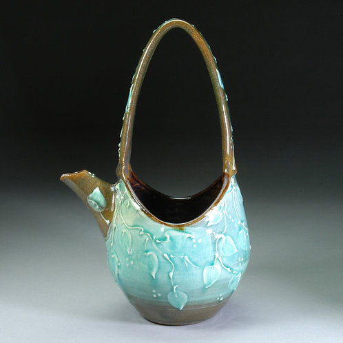Small Turquoise Waterbasket