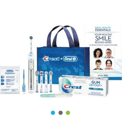 The Crest® + Oral-B® Genius X™ Perio Implant Power Toothbrush Bundle