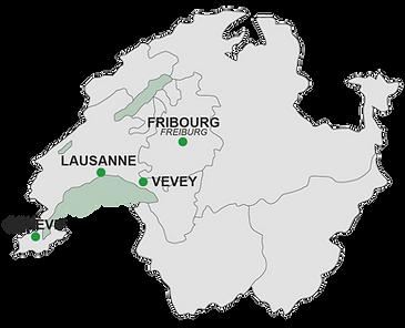 carte des lieux de consultations à genève lausanne fribourg et vevey
