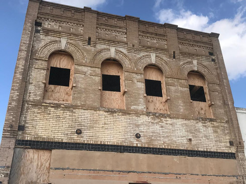 Cotulla, Tx - Reconstruction project of the historic Stockmen's Building.