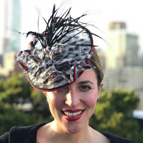 0f561eadaa838 Kentucky Derby-Wedding Hat-Mad Hatter- Hat for the Races-Tea Party- Derby  Headpiece-Horse Racing Fashion-Derby Saucer Hat-Animal print Fascinator ...