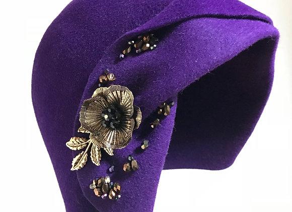 Royal Purple Cloche