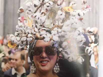Our Cotton headdress   The Hat Magazine, Easter 2019