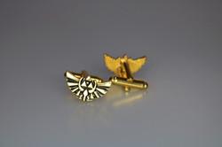 gold zelda wings cufflinks 2