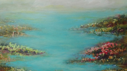 Abstract Landscape Shore Painting