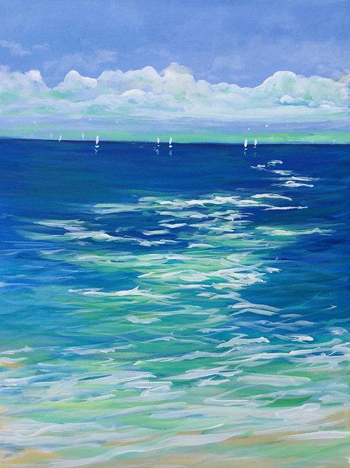 Salty Ocean Air. Original acrylic painting on canvas