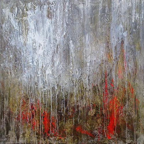 Large Abstract Landscape Original Painting on Canvas. Modern Art with Texture