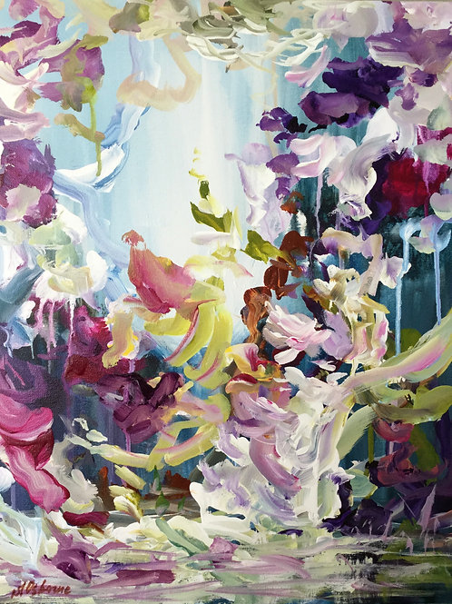 Abstract floral painting Magic Garden #810-26-2