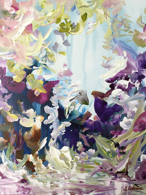 Abstract floral painting Magic Garden #810-26-1
