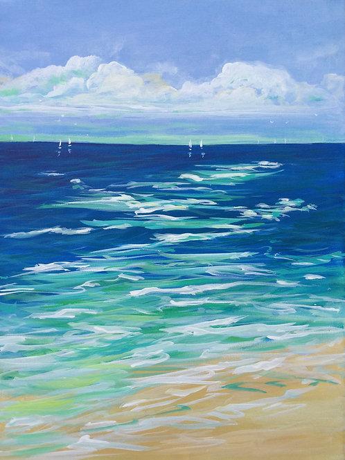 Salty Ocean Air #2. Original acrylic painting on canvas