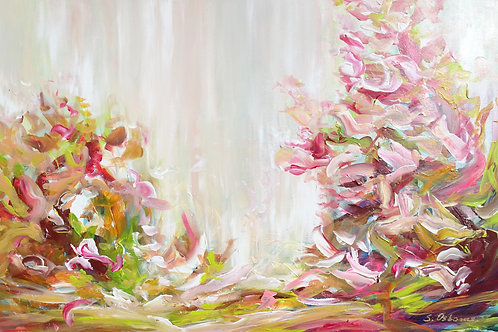 Abstract Floral Landscape. Floral Garden. Abstract Forest Original Painting