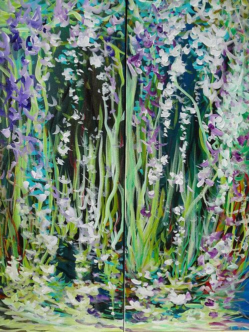 Magic Garden #400. Abstract forest, flowers, botanical garden