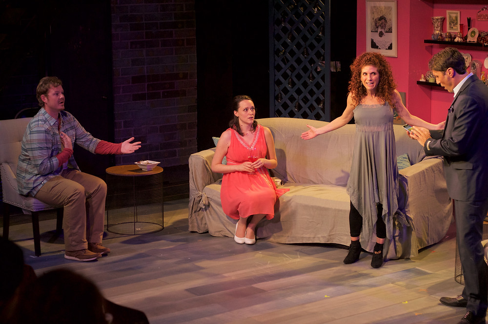 Mike Rasmussen, Kelli Andino, Rozanne Sher and Russell Jeff Feher in BECKY SHAW. Photo by Shawn Donley