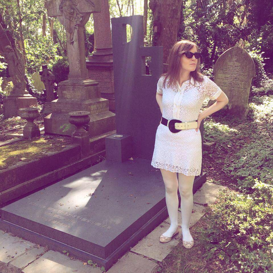 Me in Highgate Cemetery by Patrick Caulfield Grave