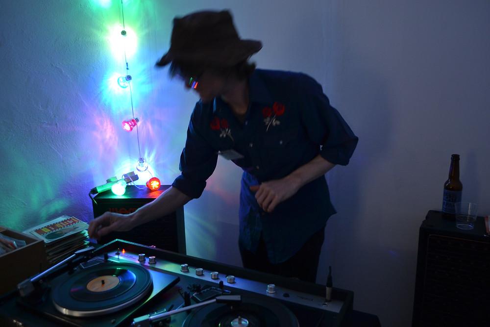 Sean DJing