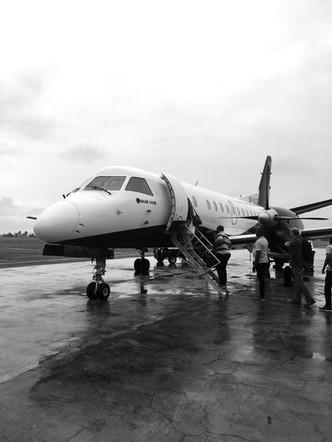 Our flight to Principe
