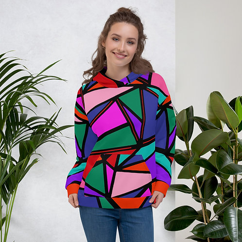 Striped Abstract Multicolor Unisex Hoodie