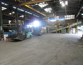 ゴミ収集の工場内