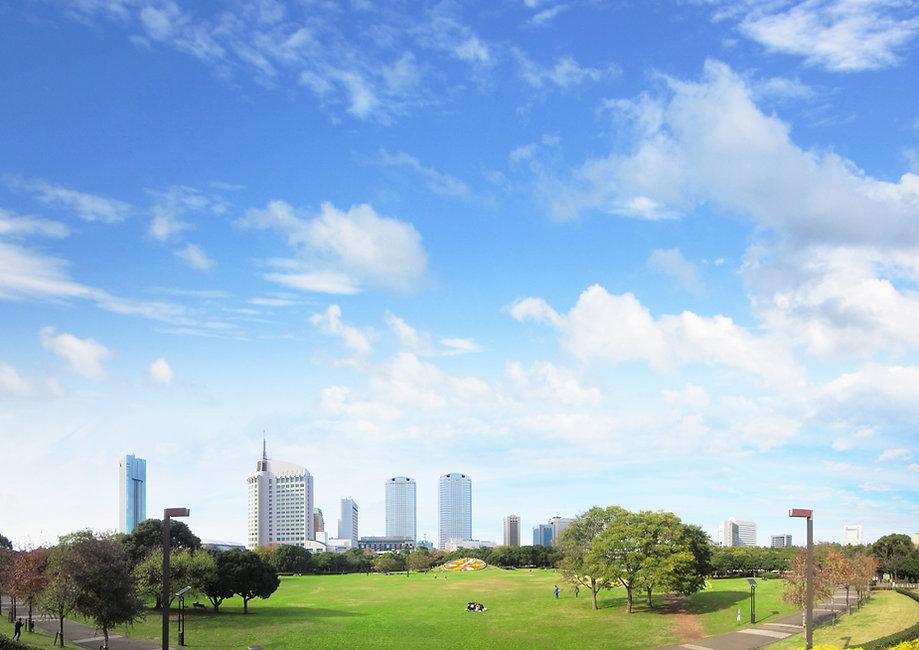 公園と青空