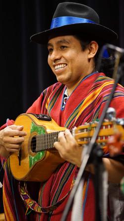 Alex playing the bandolin