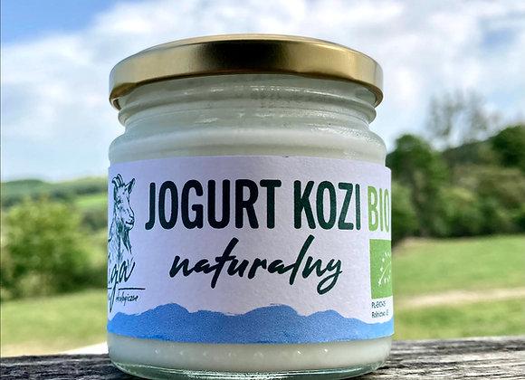 jogurt kozi BIO naturalny - słoik szklany 190 ml.
