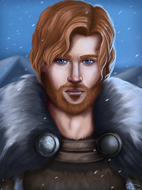Digitale Charakter Portrait Illustration