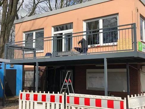 Bauarbeiten am Vereinsheim